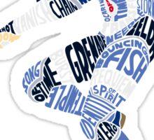Sheik Typography Sticker