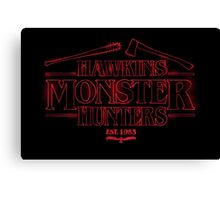 Hawkins Monster Hunters Canvas Print
