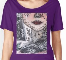 Emma - Portrait With Bird Women's Relaxed Fit T-Shirt