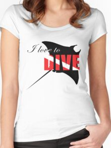 I love to dive Women's Fitted Scoop T-Shirt