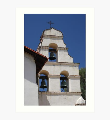 Bell Tower at San Juan Bautista Mission Art Print