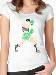 Little Mac Typography Women's Fitted Scoop T-Shirt