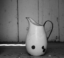 black and white pitcher by Miriam Gordon