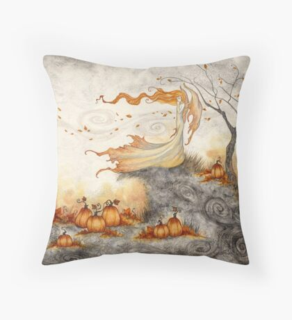 Whispers in the Pumpkin Patch Throw Pillow