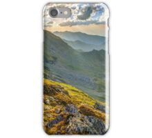 Aerial view of Balea Lake iPhone Case/Skin