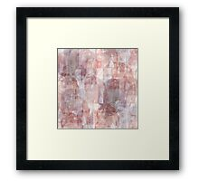 Abstract collage Framed Print