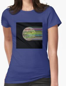 Supermoon Glitch Womens Fitted T-Shirt