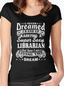 Librarian Husband Christmas Gift Women's Fitted Scoop T-Shirt
