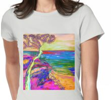 Looking out to sea. Womens Fitted T-Shirt