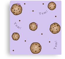 Cute Cookie Pattern Canvas Print