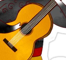 Spanish Bull playing Flamenco Guitar Sticker