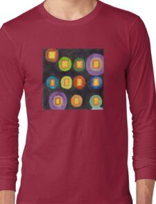 Lighted Windows in the Dark  Long Sleeve T-Shirt