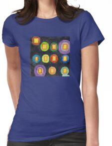 Lighted Windows in the Dark  Womens Fitted T-Shirt