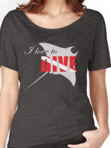 I love to dive Women's Relaxed Fit T-Shirt