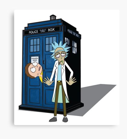 Rick and Morty -  Dr who Canvas Print