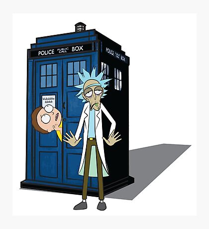 Rick and Morty -  Dr who Photographic Print