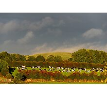 Sunshine and rain, County Kilkenny, Ireland Photographic Print