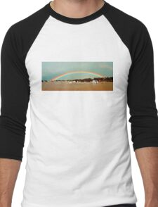 Apricot Rainbow. Photo Art, Prints, Gifts.  Men's Baseball ¾ T-Shirt