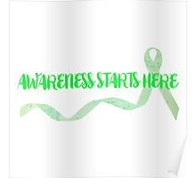 Awareness Starts Here - Green Poster