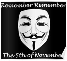Guy Fawkes - Remember Remember Poster