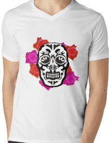 Mexican skull  Mens V-Neck T-Shirt