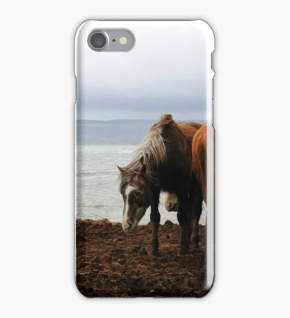 Wild horses in Donegal, Ireland iPhone Case/Skin