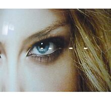 the eye of a blond beauty Photographic Print