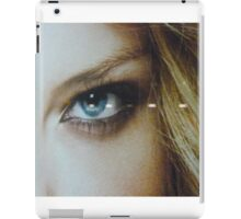 the eye of a blond beauty iPad Case/Skin