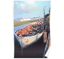 Aged Row Boat Poster