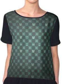 Kingdom Hearts pattern (green) Chiffon Top