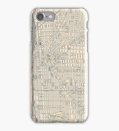 Vintage Map of Detroit (1895) iPhone Case/Skin