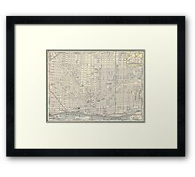 Vintage Map of Detroit (1895) Framed Print
