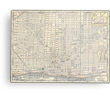 Vintage Map of Detroit (1895) Metal Print