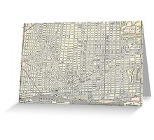 Vintage Map of Detroit (1895) Greeting Card