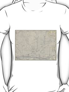 Vintage Map of Detroit (1895) T-Shirt