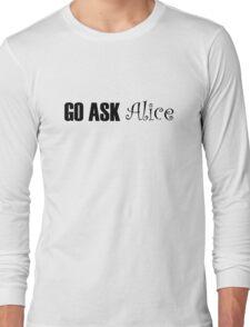 Jefferson Airplane White Rabbit Music Quotes Long Sleeve T-Shirt