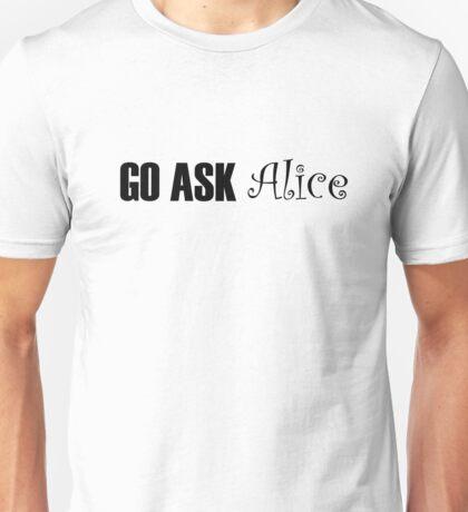 Jefferson Airplane White Rabbit Music Quotes Unisex T-Shirt