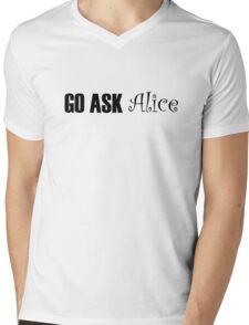 Jefferson Airplane White Rabbit Music Quotes Mens V-Neck T-Shirt