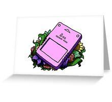 PS2 Memory Card   Greeting Card