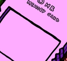 PS2 Memory Card   Sticker