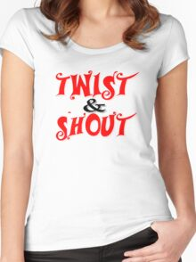 Twist And Shout The Beatles Rock Music Women's Fitted Scoop T-Shirt