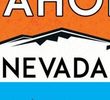 LAKE TAHOE NEVADA SKIING SKI LAKE BOAT BOATING BEAR SNOWBOARD Sticker