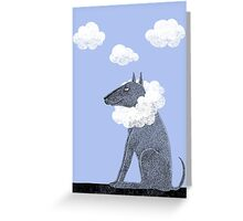 Head in Clouds Dreamer Dog Greeting Card