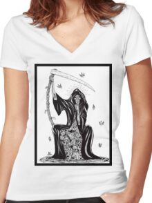 Death Women's Fitted V-Neck T-Shirt