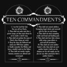 Supernatural 10 Commandments by rexraygun