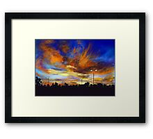 Sunrise Digital Painting Framed Print
