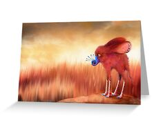 Blue Nosed  Greeting Card