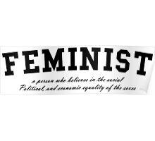 FEMINIST - Chimamanda Ngozi Adichie Quote Poster