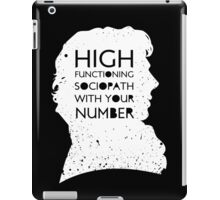 High Functioning Sociopath - White iPad Case/Skin