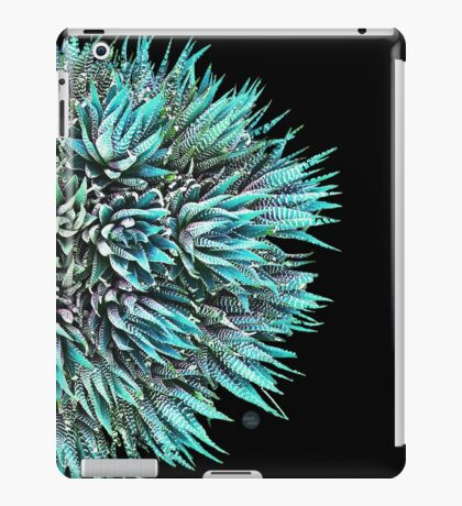 Cactus Crown 1. Blue & Green on Black #decor #buyart iPad Case/Skin